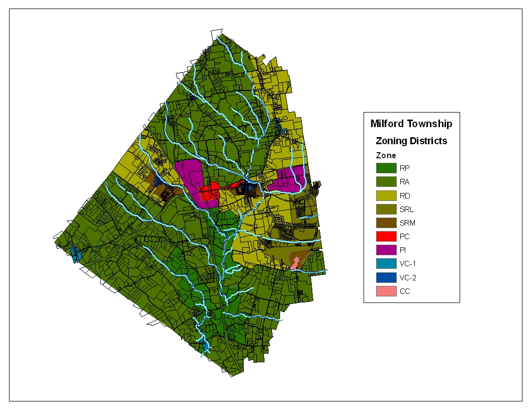 Milford Township Zoning Map