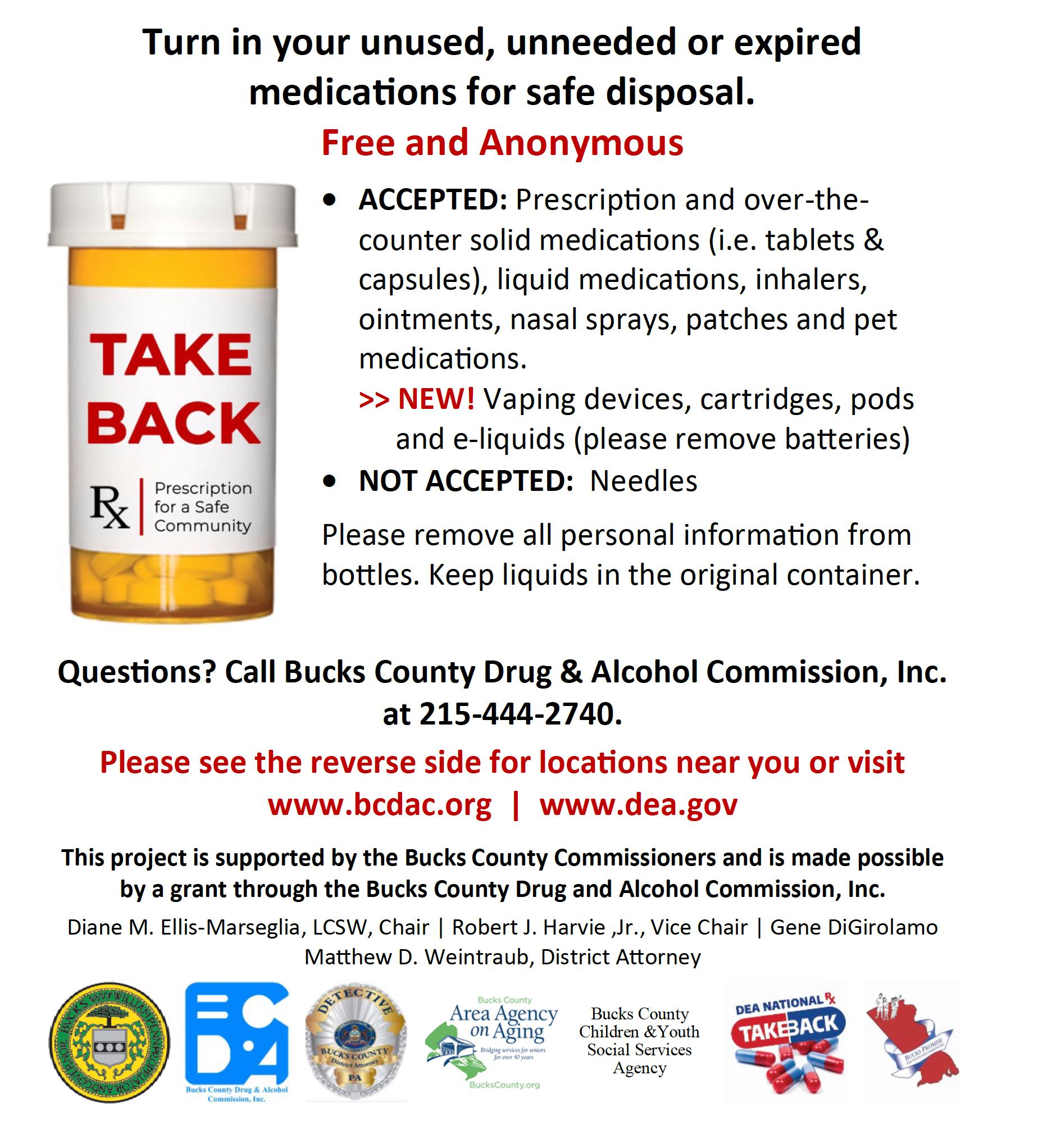 Medication Take Back and Disposal Program